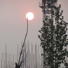 Sunrise while jogging  in China 2011 with client Mayway